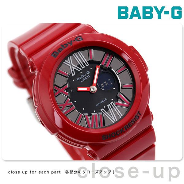 【当店なら!さらにポイント+4倍 25日10時〜】Baby-G レディース ベビーG カシオ 腕時計 ネオンダイアルシリーズ アナデジ ブラック × レッド CASIO BGA-160-4BDR 時計【あす楽対応】