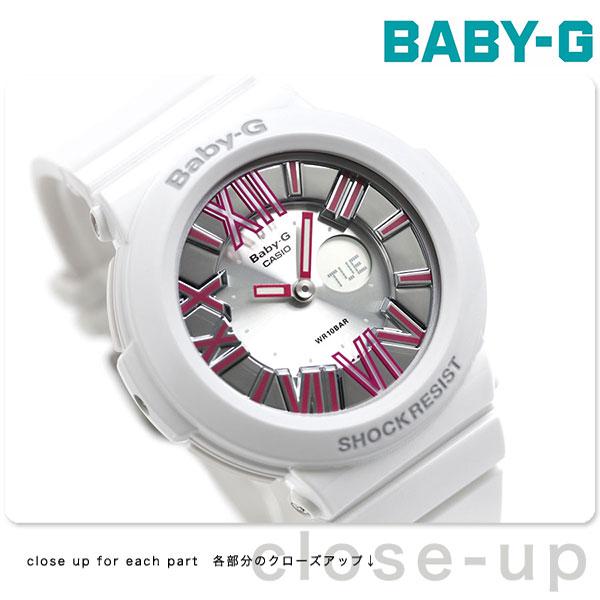 Baby-G レディース CASIO ネオンダイアルシリーズ アナデジ シルバー × ピンク BGA-160-7B2DR 腕時計 時計【あす楽対応】