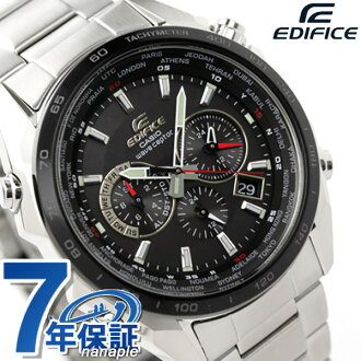 卡西歐CASIO EDIFICE edifisu電波sorakuronogurafuburakkubezeru×銀子EQW-M600DB-1AER