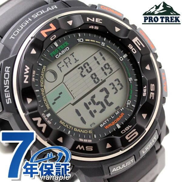 【当店なら!さらにポイント+4倍 26日20時〜】 プロトレック PRO TREK 電波 ソーラー トリプルセンサー ブラック PRW-2500-1ER 腕時計 時計【あす楽対応】