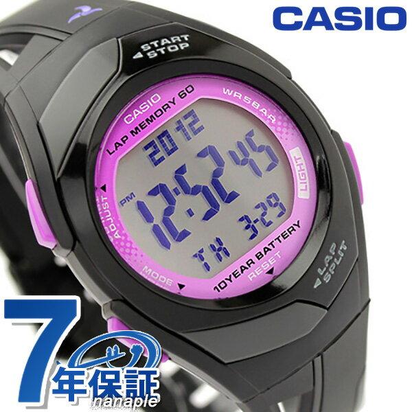 カシオ チプカシ CASIO PHYS フィズ ランニングウォッチ パープル×ブラック STR-300-1CEF 腕時計 時計