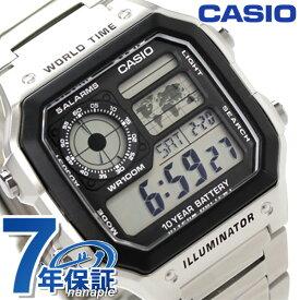 カシオ 腕時計 チープカシオ 海外モデル クオーツ メンズ AE-1200WHD-1AVCF CASIO シルバー チプカシ 時計【あす楽対応】