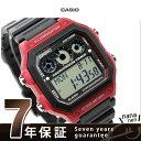 カシオ チプカシ 海外モデル クオーツ メンズ 腕時計 AE-1300WH-4AVCF CASIO ブラック×レッド