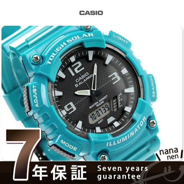カシオ チプカシ 腕時計 メンズ ソーラー スタンダード 海外モデル ブラック×ブルー CASIO AQ-S810WC-3AVCF 時計【あす楽対応】