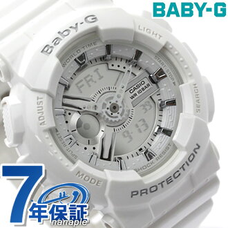 嬰兒G卡西歐手錶女士白CASIO Baby-G BA-110-7A3DR