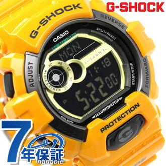 GLS-8900-9DR G打击G骑人祖卡奥茨CASIO G-SHOCK手表黑色×黄色