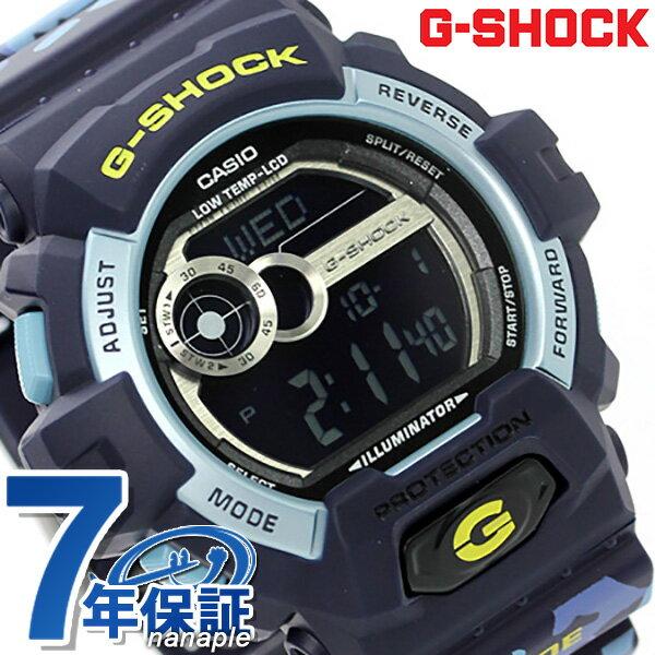 G-SHOCK CASIO GLS-8900CM-2DR Gライド ワールドタイム メンズ 腕時計 カシオ Gショック ブラック × ネイビー
