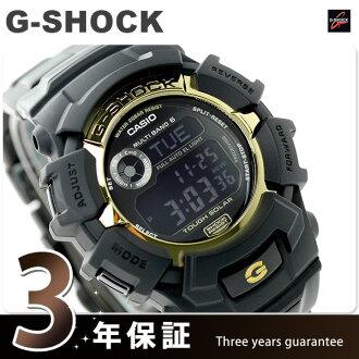 GW-2310BD-1GJF G-SHOCK电波太阳能黑色×黄金系列人卡西欧G打击手表黑色
