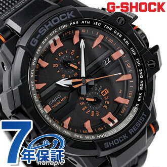 GW-A1000FC-1A4DR G打击天驾驶室人电波太阳能CASIO G-SHOCK手表全部黑色×橙子