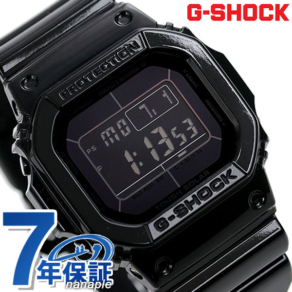 G-SHOCK 電波 ソーラー CASIO GW-M5610BB-1ER 腕時計 カシオ Gショック グロッシー・ブラックシリーズ オールブラック 時計【あす楽対応】