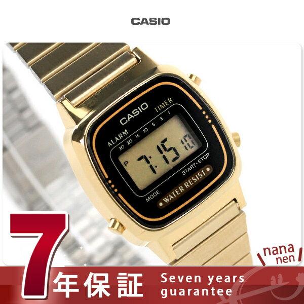 カシオ 腕時計 チープカシオ デジタル 海外モデル LA-670WGA-1DF CASIO レディース クオーツ ブラック×ゴールド チプカシ