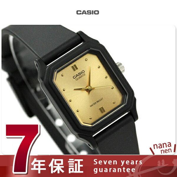 カシオ 腕時計 チープカシオ レディース 海外モデル ゴールド×ブラック CASIO LQ-142E-9ADF チプカシ 時計