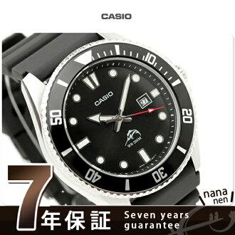 卡西歐手錶人潛水員表日期海外型號黑色CASIO MDV-106-1AVCF