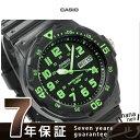 カシオ チプカシ 腕時計 デイデイト クラシック 海外モデル オールブラック×グリーン CASIO MRW-200H-3BVDF