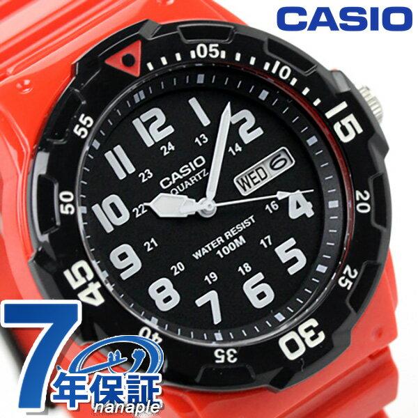 カシオ 腕時計 チープカシオ 海外モデル MRW-200HC-4BVDF CASIO クオーツ ブラック×レッド チプカシ