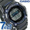 カシオ 腕時計 チープカシオ スポーツ ギア ソーラー メンズ ブルー×ブラック CASIO W-S210H-1AVCF チプカシ