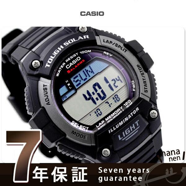 カシオ 腕時計 チープカシオ ソーラー メンズ 海外モデル ブラック CASIO W-S220-1AVCF チプカシ 時計【あす楽対応】
