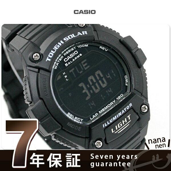 カシオ 腕時計 チープカシオ メンズ ソーラー 海外モデル オールブラック CASIO W-S220-1BVCF チプカシ