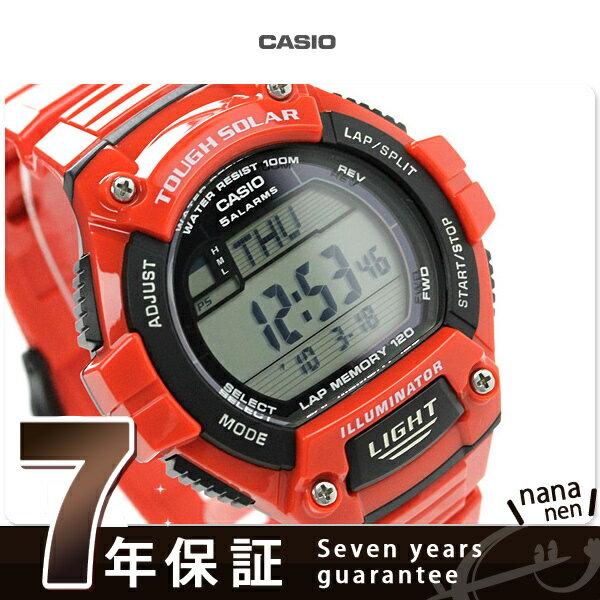 カシオ 腕時計 チープカシオ メンズ ソーラー 海外モデル レッド CASIO W-S220C-4AVCF チプカシ