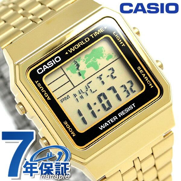 カシオ 腕時計 チープカシオ ワールドタイム A500WGA-1DF CASIO ゴールド チプカシ