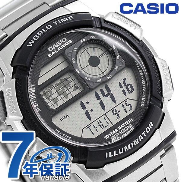 カシオ 腕時計 チープカシオ ワールドタイム AE-1000WD-1AVDF CASIO シルバー チプカシ