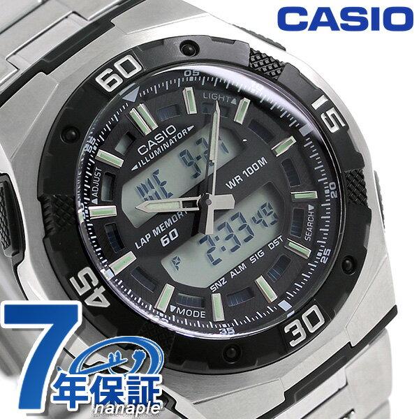 カシオ 腕時計 チープカシオ ワールドタイム AQ-164WD-1AVDF CASIO ブラック チプカシ