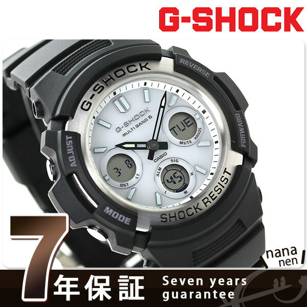 G-SHOCK 電波 ソーラー CASIO AWG-M100S-7AER メンズ 腕時計 カシオ Gショック ブラック × ホワイト