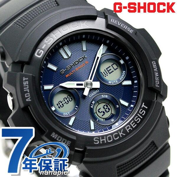 G-SHOCK 電波 ソーラー CASIO AWG-M100SB-2AER メンズ 腕時計 カシオ Gショック ブルー × ブラック