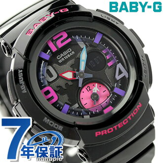 Baby-g Beach-traveler-series ladies watch BGA-190-1BDR Casio baby G Quartz Black × Pink