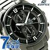 Casio edifice chronograph quartz men's watch CASIO EDIFICE EFR-533BK-1AVUDF black P19Jul15