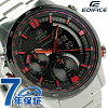 kashioedifisuneoniruminetamenzu手錶ERA-300DB-1AVDR CASIO EDIFICE石英黑色×紅
