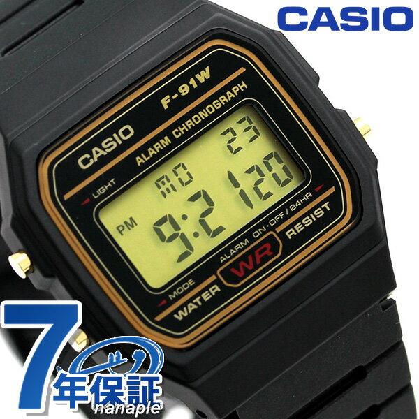 カシオ 腕時計 チープカシオ アラーム F-91WG-9DG CASIO ブラック チプカシ