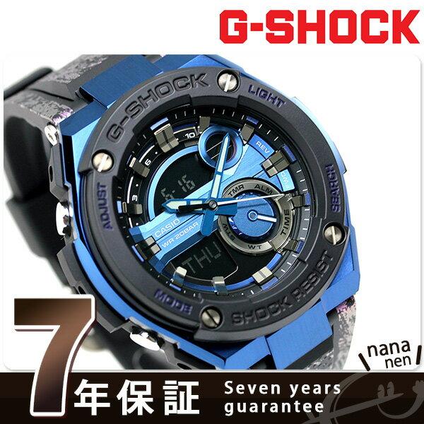 G-SHOCK CASIO GST-200CP-2ADR Gスチール メンズ 腕時計 カシオ Gショック ブルー × ブラック 時計【あす楽対応】