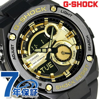 G-shock G steel quartz men's watch GST-210B-1 A9DR gold Casio G shock x black