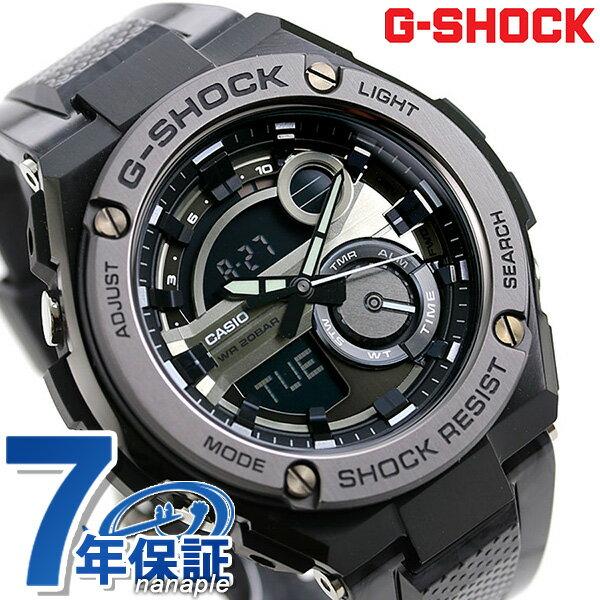 G-SHOCK CASIO GST-210M-1ADR Gスチール メンズ 腕時計 カシオ Gショック ブラック × グレー 時計【あす楽対応】