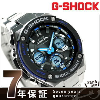 GST-S100D-1A2DR G-SHOCK G钢铁人手表卡西欧G打击黑色×蓝色