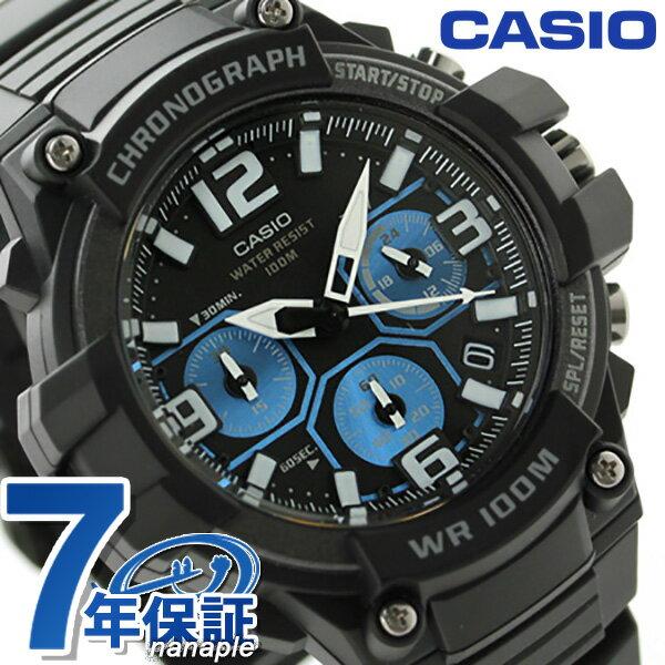 カシオ 腕時計 チープカシオ 海外モデル クロノグラフ メンズ MCW-100H-1A2VCF CASIO クオーツ ブラック×ブルー チプカシ 時計【あす楽対応】