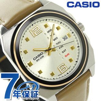 kashiochipukashi海外型号手表MTF-117BL-9AVDF CASIO银子×浅褐色
