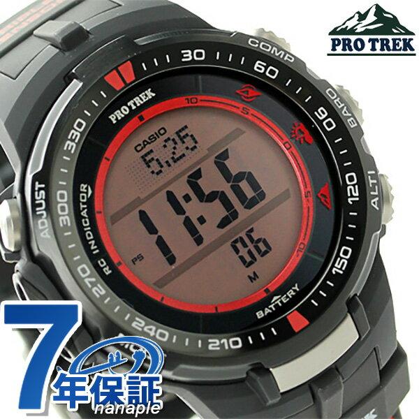 カシオ プロトレック トリプルセンサー メンズ 腕時計 PRW-3000G-1DR CASIO PRO TREK ブラック×レッド 時計【あす楽対応】
