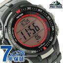 カシオ プロトレック トリプルセンサー メンズ 腕時計 PRW-3000G-1DR CASIO PRO TREK ブラック×レッド