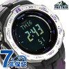卡西歐初期Lec三倍感應器電波太陽能PRW-3100-6DR CASIO PRO TREK手錶黑色×紫