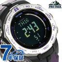 カシオ プロトレック トリプルセンサー 電波ソーラー PRW-3100-6DR CASIO PRO TREK 腕時計 ブラック×パープル