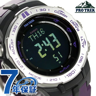 Casio protrek triple sensor radio solar PRW-3100-6DR CASIO PRO TREK watch black / purple