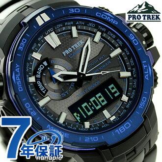 Casio protrek radio solar triple sensor PRW-6000SYT-1CR CASIO PRO TREK Watch Blue moment