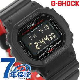 G-SHOCK CASIO DW-5600HR-1DR メンズ 腕時計 カシオ Gショック ブラック & レッド 時計【あす楽対応】