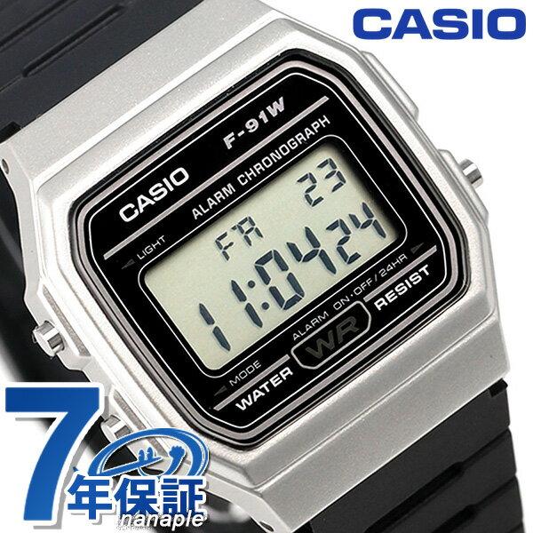 カシオ チプカシ スタンダード ストップウォッチ 腕時計 F-91WM-7ACF CASIO ブラック