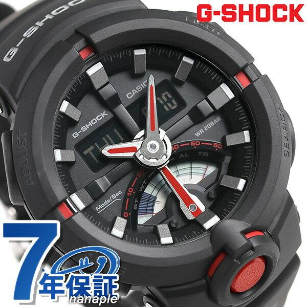 【当店なら!さらにポイント+4倍 26日20時〜】 G-SHOCK CASIO GA-500-1A4DR 腕時計 カシオ Gショック レトログラード オールブラック 時計【あす楽対応】