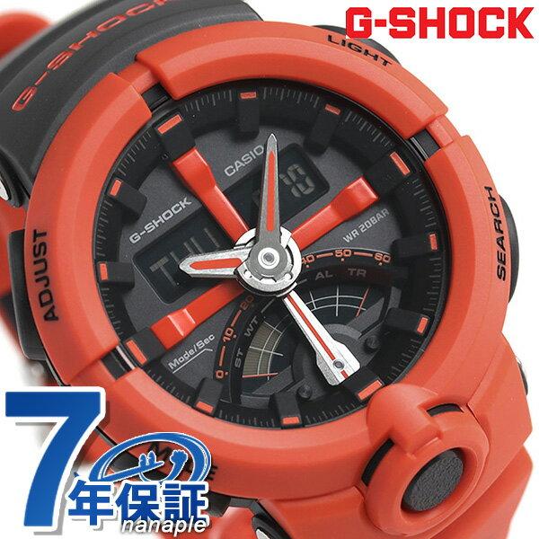 G-SHOCK CASIO GA-500P-4ADR 腕時計 カシオ Gショック パンチングパターン レトログラード レッド