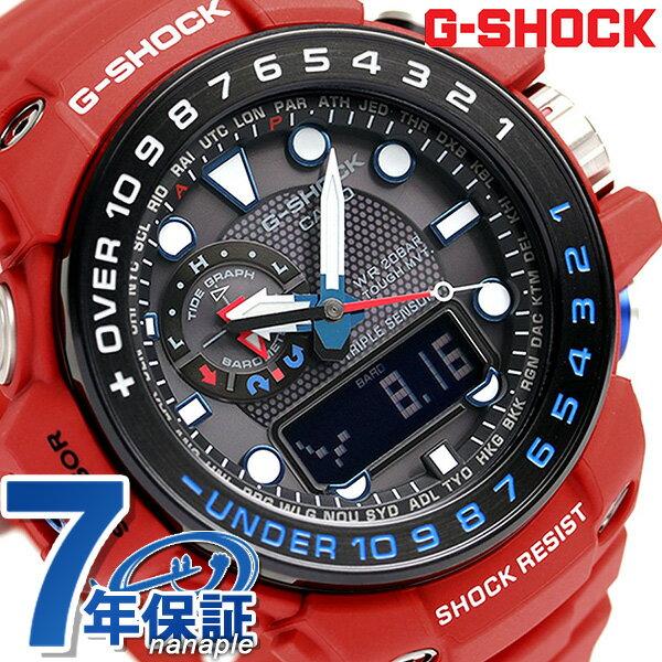 G-SHOCK 電波 ソーラー CASIO GWN-1000RD-4AER ガルフマスター 腕時計 カシオ Gショック トリプルセンサー 時計