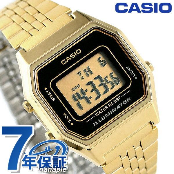 【エントリーでさらにポイント+4倍!26日1時59分まで】 カシオ 腕時計 チープカシオ レディース LA-680WEGA-1DR CASIO イエロー×ゴールド チプカシ 時計